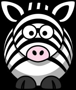 Cebra en caricatura