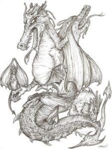 Dragones para pintar