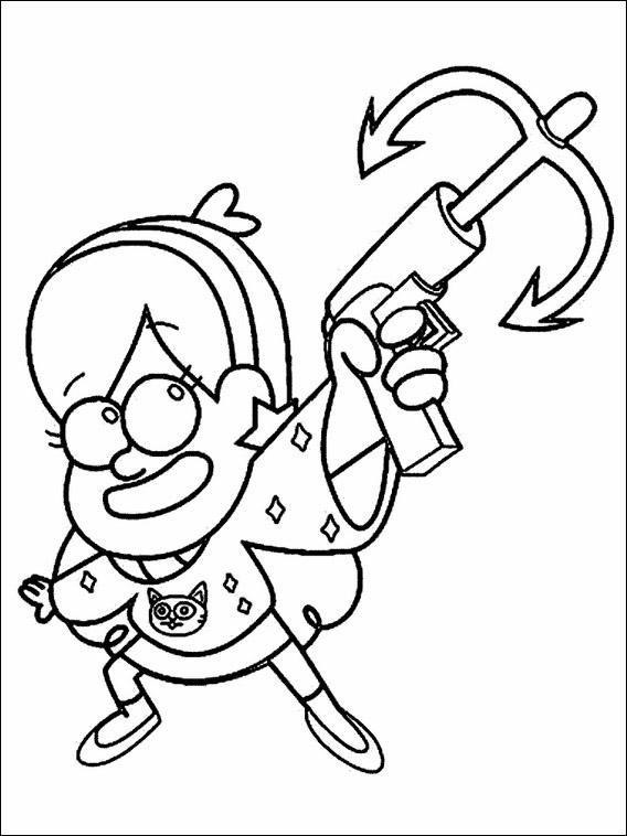 Imprimir Y Colorear Dibujos De Gravity Falls Oneletterco