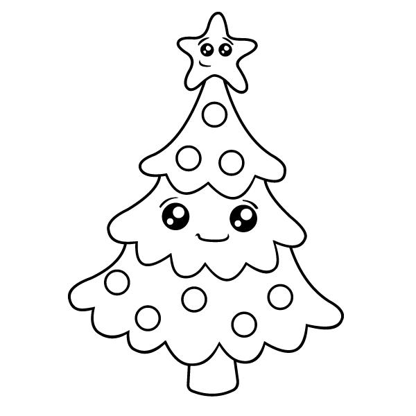 ᐈ Dibujos De Arboles De Navidadguiaárbol Navideño Fácil