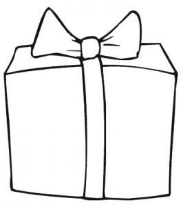 caja de regalo para dibujar