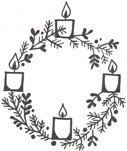como decorar una corona de adviento