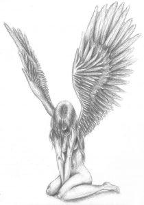 como dibujar angeles