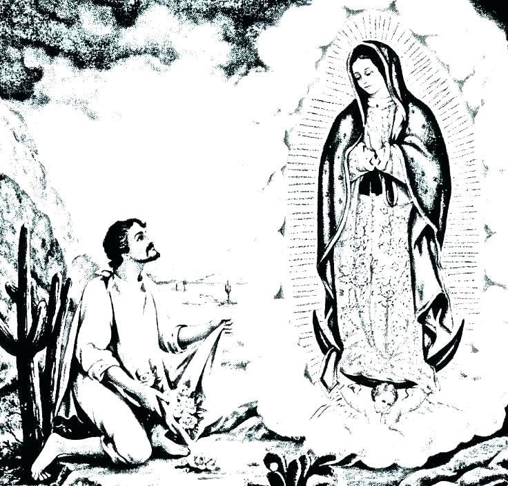 ᐈ Dibujos De La Virgen De Guadalupeguiadibújala A Lápiz