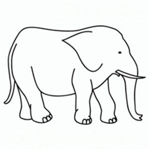 como dibujar un elefante facil