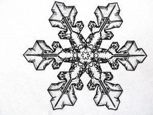 como se hace un copo de nieve