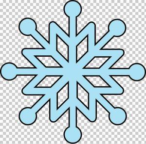 copos de nieve faciles de dibujar
