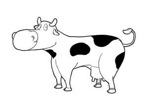 dibujar una vaca facil