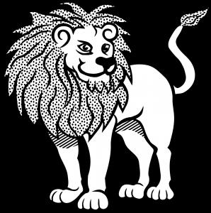 dibujo de leon para colorear