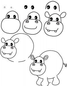 dibujo hipopotamo