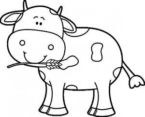 dibujo vaca infantil