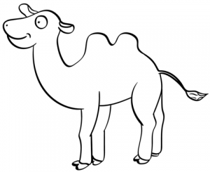 dibujos de camellos para niños