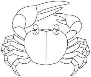 dibujos de cangrejos para colorear