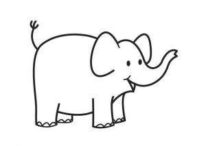 dibujos de elefantes animados