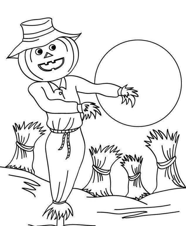 dibujos de espantapajaros para niños