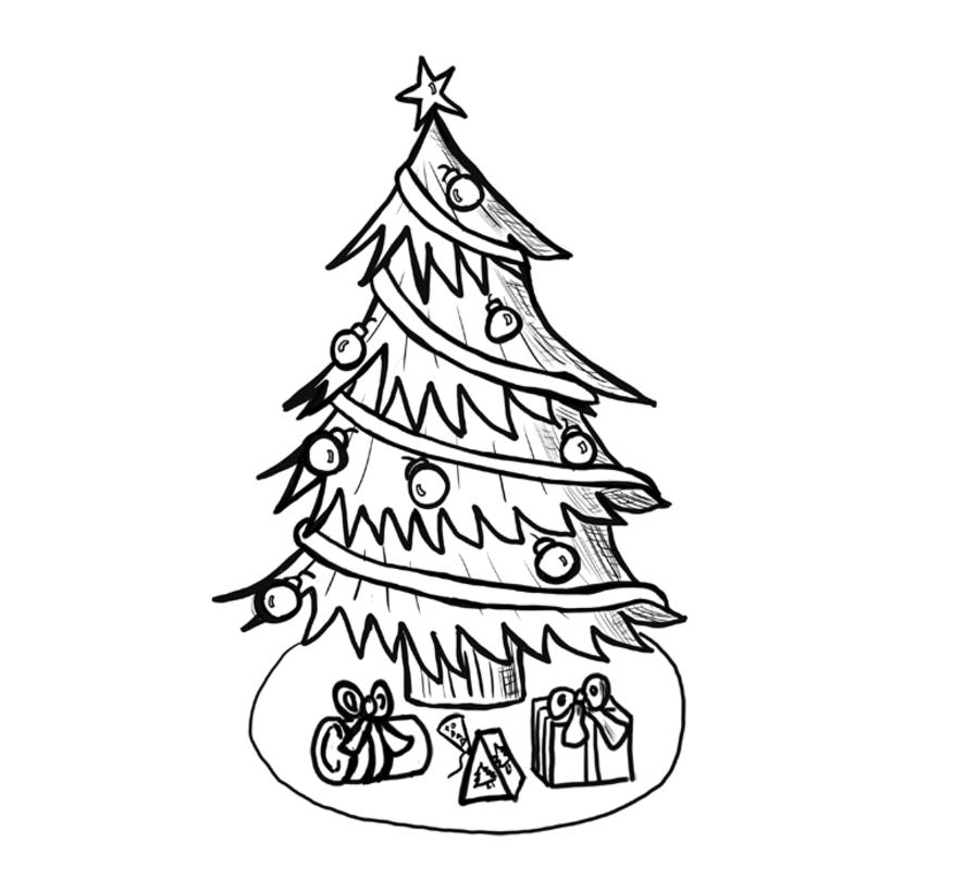 Dibujos De Navidad 1800 Pinta Estrellas Renos Y A Papa Noel