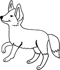 dibujos de zorros faciles