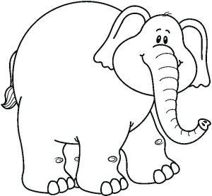 elefante dibujo infantil