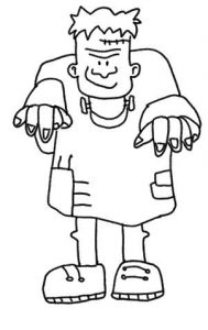 frankenstein en dibujo