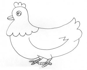 gallina dibujo