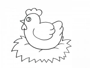 gallina dibujo animado