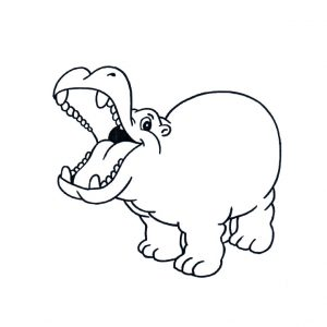 hipopotamo para niños