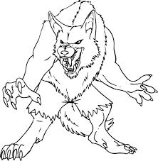 hombre lobo animado