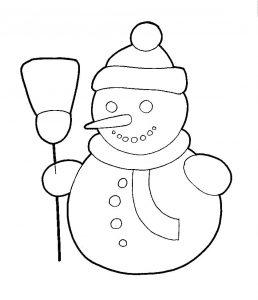 hombres de nieve navideños