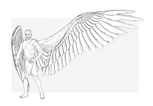 how to draw angel wings preview