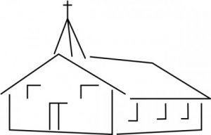 iglesia dibujo para colorear