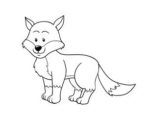 imagen de un zorro para colorear