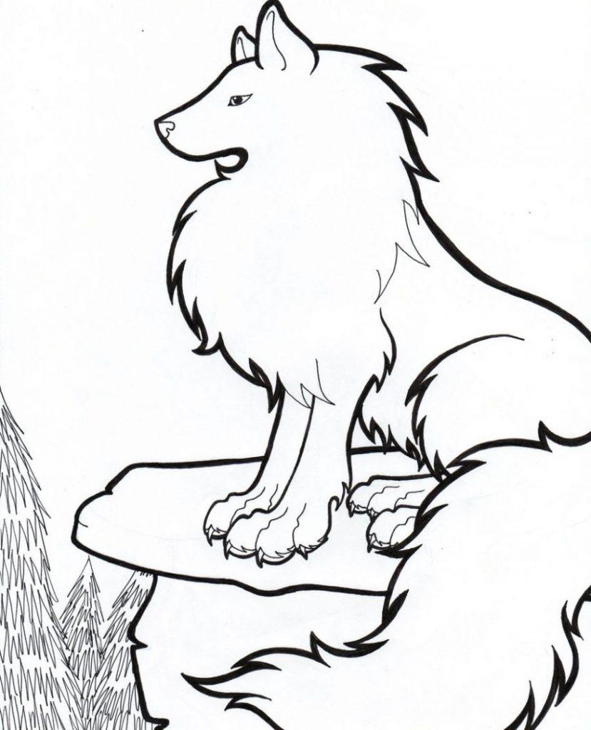ᐈ Dibujos De Lobosguiapintar Un Lobo Fácil A Lapiz