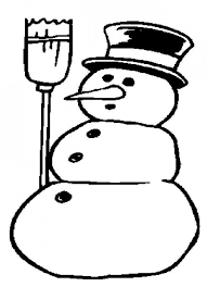 imagenes de muñecos de nieve para colorear