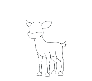 imagenes de renos para dibujar