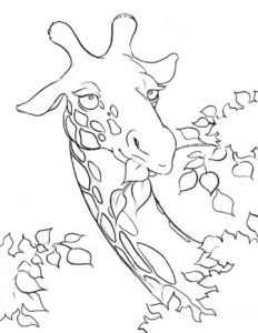 jirafa para imprimir