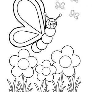 mariposa caricatura