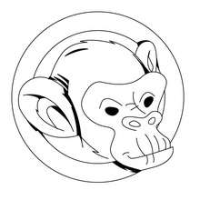 mono para dibujar