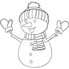 muñeco de nieve para imprimir