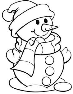 muñeco de nieve para pintar