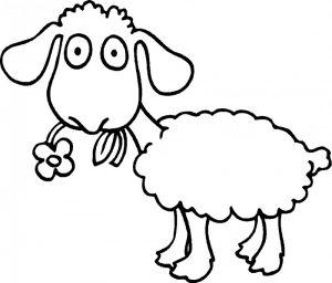 oveja para pintar