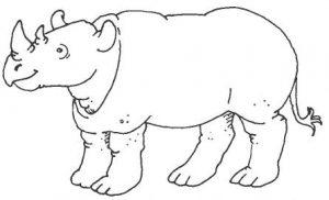 rinoceronte dibujos animados