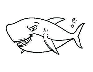 tiburones animados para niños