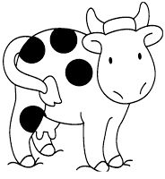 vaca animada