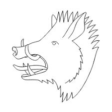 como dibujar un jabali paso a paso