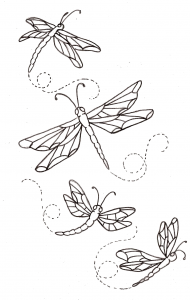 libelula dibujo infantil