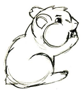 dibujo hamster para colorear