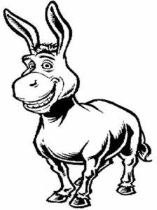 dibujos de burros faciles