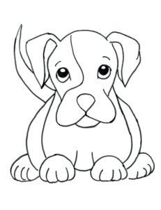 dibujos de cachorros tiernos