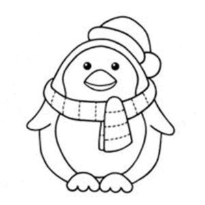 dibujos de pinguinos para colorear