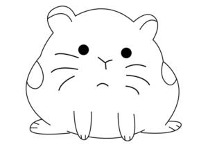 hamster dibujo animado